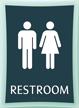 Restroom, Unisex, 11.375 in. x 8.375 in. Sign