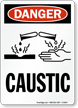 Danger: Caustic (with graphic), Vertical