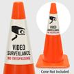 Video Surveillance No Trespassing Cone Collar