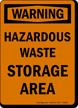 Warning Hazardous Waste Area Sign