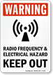 Warning - Electrical Hazard Keep Out Sign