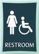Restroom, Women/Handicapped, 11.375 in. x 8.375 in. Sign