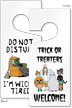 Halloween Do Not Disturb I'm Wicked Tired Tag