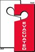 Evacuated Door Hang Tag