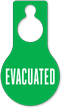 Evacuated Pear Shaped Door Hang Tag