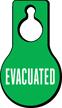 Evacuated Pear Shaped Door Hang Tag
