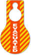 Evacuated Pear Shaped Plastic Door Hang Tag