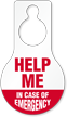 Help In Case Of Emergency Hang Tag