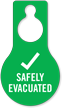 Safety Evacuated Plastic Door Hang Tag