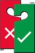 Tick And Cross Symbol Door Hang Tag