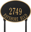 Hawthorne Oval Standard Lawn Address Plaque, Two Lines