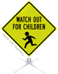 Watch Out For Children Roll-Up Sign