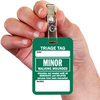 Minor Triage Tag With Bulldog Clip