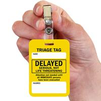 Delayed Triage Tag With Bulldog Clip