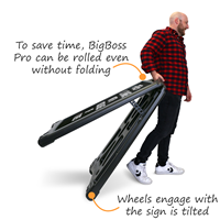 BigBoss Pro sign can be wheeled, even without folding