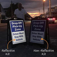 Reflective sidewalk signs