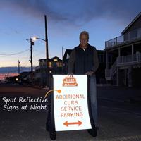 Reflective QuickBoss sidewalk sign