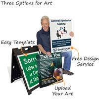 Custom a-frame signs
