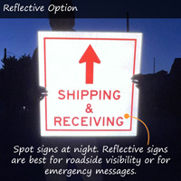 Reflective coroplast plastic sign