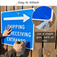 How to install a plastic sign