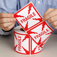 Fragile Shipping Labels Roll