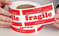 Fragile Handle Care Shipping Label