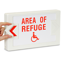 Area Of Refuge Handicapped Symbol Exit Sign