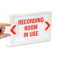 Recording Room, LED Exit Sign