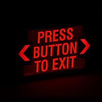 Press Button to Exit,LED Exit Sign