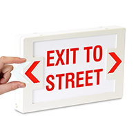 LED Exit To Street Sign with Battery Backup