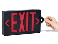 LED Exit Signs, Double Faced with Battery