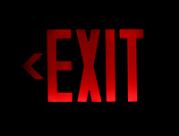 Universal LED Exit Sign with Battery Backup
