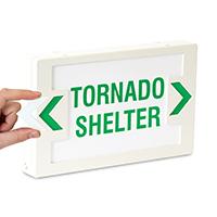 Tornado Shelter LED Exit Sign