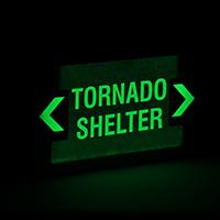 Tornado Shelter Battery Backup Exit Sign