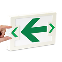 LED Exit Left Arrow Symbol Sign