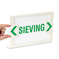 LED Exit Sieving Sign with Punch-Out Arrows