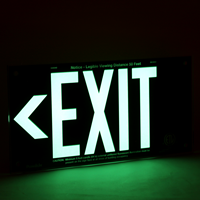 UL 924 Exit Sign in Red