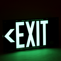 UL 924 Exit Sign in Black
