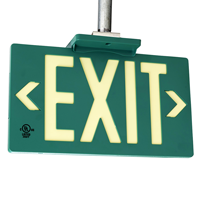 Photoluminescent Green Molded Exit Sign