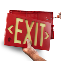 Double Sided Exit Sign