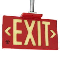 Photoluminescent Red Molded Exit Sign