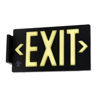 Black Molded Plastic Exit Sign