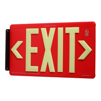 Red Recycleable Exit Sign
