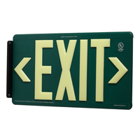 Green Recycleable Exit Sign