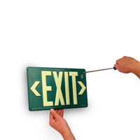 Non-Toxic Exit Sign
