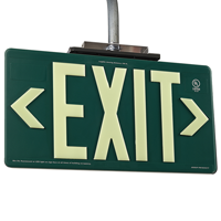 Non-Radioactive Plastic Exit Sign
