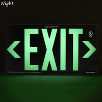 Photoluminescent Recycleable Exit Sign