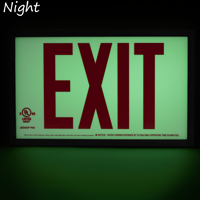 Red Acrylic Framed Exit Sign