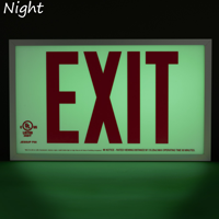 Red Aluminum Exit Sign