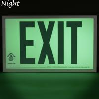 Red Aluminum Exit Sign